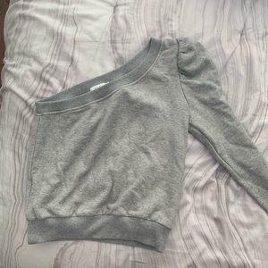 a.l.c Tops - A.L.C- one shoulder grey sweatshirt- s - nwot